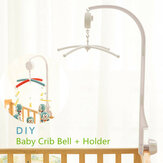 Baby Crib Mobile Bed Bell Toy Holder Arm Bracket + Clockwork Movement Music