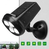 Waterproof IP65 4 LED Solar Light Bright Motion Sensor Landscape Wall Lamp for Garden Outdoor