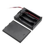 10 stücke 3 Slots AA Batterie Box Batterie Halter Board mit Schalter für 3xAA Batterien DIY kit Fall