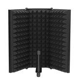 Microphone pliable bouclier d'isolation acoustique mousses acoustiques Studio filtre de panneau de boîtier de bruit à trois portes