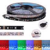 5M DC12V 8MM SMD3535 Blanco Negro PCB No impermeable RGB 300LED Strip Light para la decoración de interiores del hogar