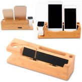 Çok İşlevli Ahşap Masaüstü USB Şarj Ediliyor Stand Holder for iWatch iPhone Akıllı Telefon Tablet