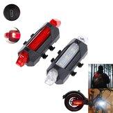BIKIGHT Wielofunkcyjne światło ostrzegawcze LED na zewnątrz / skuter Latarka bezpieczeństwa Akumulatorowa latarka czołowa USB Taillight do skuterów elektrycznych i rowerów