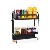 Rack de cocina Soporte de almacenamiento de refrigerador magnético Alimentos Organizador Estante de soporte