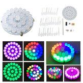 Сенсорное управление полноцветным LED Маяк Набор MCU Control Анимационный режим Круглое кольцо DIY Электронное производство