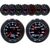 Carro de corrida Turbo / Boost / EGT Escape / Temp / Óleo Medidor de Medidor de Pressão 7 Cores
