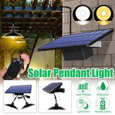 Cabezal simple / doble Solar Powered Colgante Light LED Cobertizo Lámpara al aire libre cámping Home Garden Yard Decor