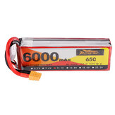 ZOP Power 11.1V 6000mAh 65C 3S Lipo Battery XT60 stik til RC Drone