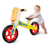 Adjustable Height Indoor Wooden Pedal-Free Toddlers Bicycle Kids Balance Bike Infant Junior Walker