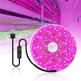 0.5/1/2/3/4/5M USB LED Grow Strip Light Waterproof 2835SMD Hydroponic Full Spectrum Indoor Plant Flower Lamp