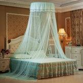 Твердые Москитная сетка Кровать Queen Size Home Dome Складная кровать с балдахином Элегантная принцесса