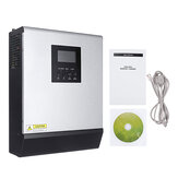 3KVA Inversor Solar 24V 220V Inversor Onda Senoidal Pura Embutido 50A PWM Controlador de Carga Solar Bateria Carregador