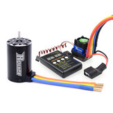 Surpass Hobby ROCKET 550 Brushless Motor 3.175 + 60A Brushless Esc + Led Programming Card Set For 1/10 RC Car Models Parts