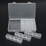 28 فتحات الماس التطريز اللوحة أداة بلاستيكية شفافة والمجوهرات تخزين مربع مسمار الفن الخرز المنظم الحاويات