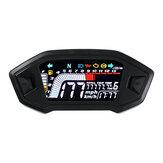 Odômetro digital universal LED velocímetro para motocicleta de cilindro 2,4 Rpm13000R