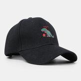 Boné de beisebol unisex pequeno bordado dinossauro Chapéu