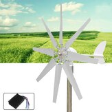 500W 12V/24V Wind Turbine 8 Leaves With Controller White Wind Generator