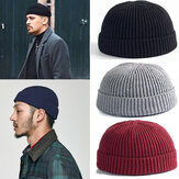 Unisex Solid Color Knitted Wool Hat Skull Cap Beanie