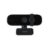 Rapoo C280 Webcam USB HD 2K Cámara Reducción de ruido dual omnidireccional incorporada Micrófono Ángulo de visión gran angular de 85 ° Rotación horizontal de 360 °