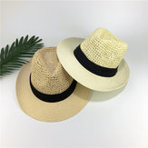 Heren dames Straw Knited Sunscreen Jazz Hat