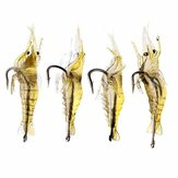 ZANLURE 4cm Shrimp Fishing Soft Prawn Lure Hook Tackle Bait Fishing Lures