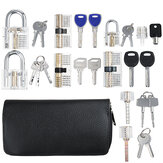 51Pcs Transparent lock Tool kit  Practice Unlocking Tool Lock Picks Tool
