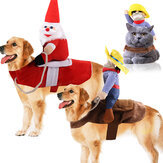 Funny Pet Dog Cat Puppy Costume Halloween Xmas Cowboy Fancy Dress Cute Coat for Dog Cat Pet Clothes