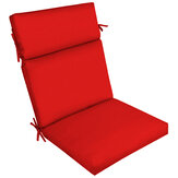 High Back Recliner Cushion One-piece Cushion Solid Color Waterproof Sunscreen Chair Pad for Furniture