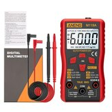 ANENG M118A Digital Mini Multimeter Tester Auto Multimeter True Rms Transistor Meter with NCV Data Hold 6000 Counts Flashlight