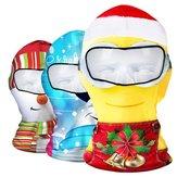 Noel Yüzü Maske Noel Kış Kayak Şapkası Bisiklete binme CS Şapka