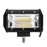 5Inch LED Work Light Bar Driving Lamp Flood Pods Dual Color for Off-Road Truck Trailer 4WD