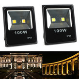 100W impermeável LED Ultra fino Flood Light Outdooors Garden Spot Lightt Landscape Lamp