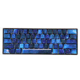 104 Keys Blue Starry Sky Keycap Set OEM Profile ABS Two Color Molding Keycaps for Mechanical Keyboard