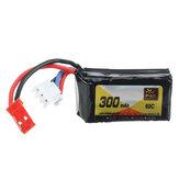 ZOP Power 7.4V 300mAh 60C 2S Lipo baterie JST Plug pro RC FPV Racing Drone