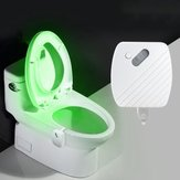 24 Colors Motion Датчик LED Night Light Bowl для туалета Ванная комната Лампа