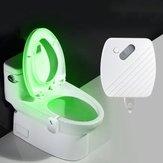 24 Couleurs Motion Sensor LED Nuit Lumière Toilettes Lumière Bol Salle De Bains Lampe