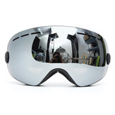 Snowboard Ski Goggles Two Layers Lens Proteção UV Anti-fog Motocicleta Driving Grey