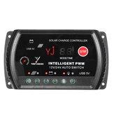 12/24V 10A Auto PWM Solar Panel Battery Regulator Charger Controller LED USB 5V