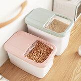 20 KG Gıda Depolama Kutu Pirinç Mutfak Saklama Kabı Tahıl Depolama Kedi Çöp Oyuncaklar Ttorage Seyahat için Kutu Kampçılık