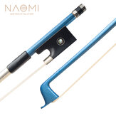 NAOMI Carbon Fiber 4/4 Violin/Fiddle Bow Carbon Fiber Stick Silver Wire Winding And Sheepskin Grip Durable Use Student Bow
