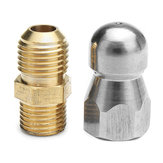 High Pressure Drain Nozzle 1 Front 3 Rear M14 Thread For Pipe Dredge Cleaning
