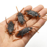 20pcs/set Halloween Plastic Cockroach Bug Joke Toys Realistic Roaches for Halloween Fool's Day Party Decoration