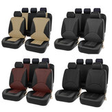 Bucket Seat Cover Set Front Rear Universal for Car Sedan Truck SUV PU Leather