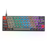 Geek Customized SK64S 64 Tasten RGB Hintergrundbeleuchtung Mechanische Gaming-Tastatur NKRO Bluetooth 5.1 Type-C Dual-Modus-PBT-Tastenkappen Gateron Optical Switch-Tastatur