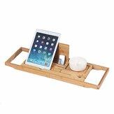 Bambu Tepsi Kaymaz Banyo Tepsisi Küvet Kitap Tablet Tutucu Okuma Rafı Çok Fonksiyonlu Masaüstü Raf Malzemeleri