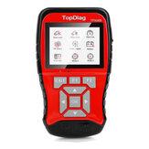 TP908B OBDII EOBD Ferramenta de scanner de diagnóstico de carro 12V 24V Bateria Testador 2 em 1 detecção de sistema duplo