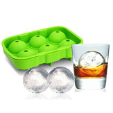 KCASA KC-IT02 6 trous Large Ball Shape Silicone Ice Cube Sphere Whisky Cocktail Ice Mold Tray