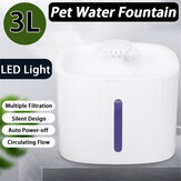 Fuente para beber para mascotas Bakeey LED Fuente de agua para beber automática visual luminosa Circulación de agua Perro Máquina de riego