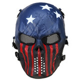 Airsoft Paintball Mask Full Face Skull Skeleton Metal Mesh Eye Game Safety Guard