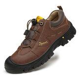 Ανδρικά Εξωτερικά Λεπτομερή Ράψιμο Καουτσούκ Toe Cap Αντιολισθητικό Soft Παπούτσια πεζοπορίας